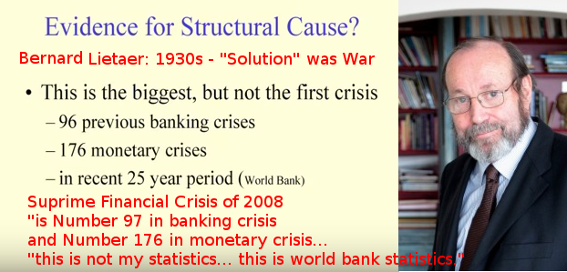 Bernard Lietaer - From Finance Crisis to War