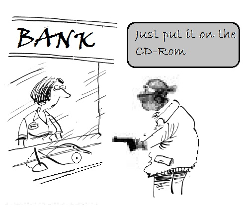 Bank robbing in an digital Age (i envision this is a digital bank in second life or something :-D)