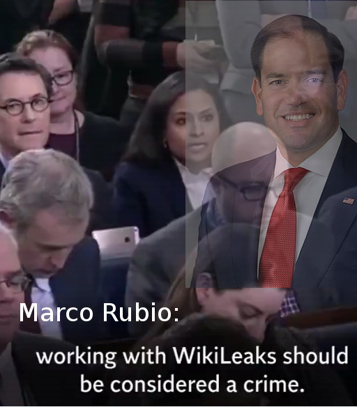 Marco Rubio said working with WikiLeaks should be considered a crime