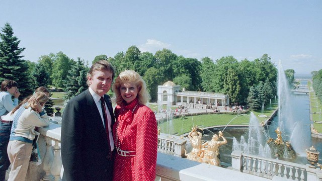 Future President Donald Trump with his then future ex-wife Ivana visiting Leningrad, USSR in 1987_1.jpg