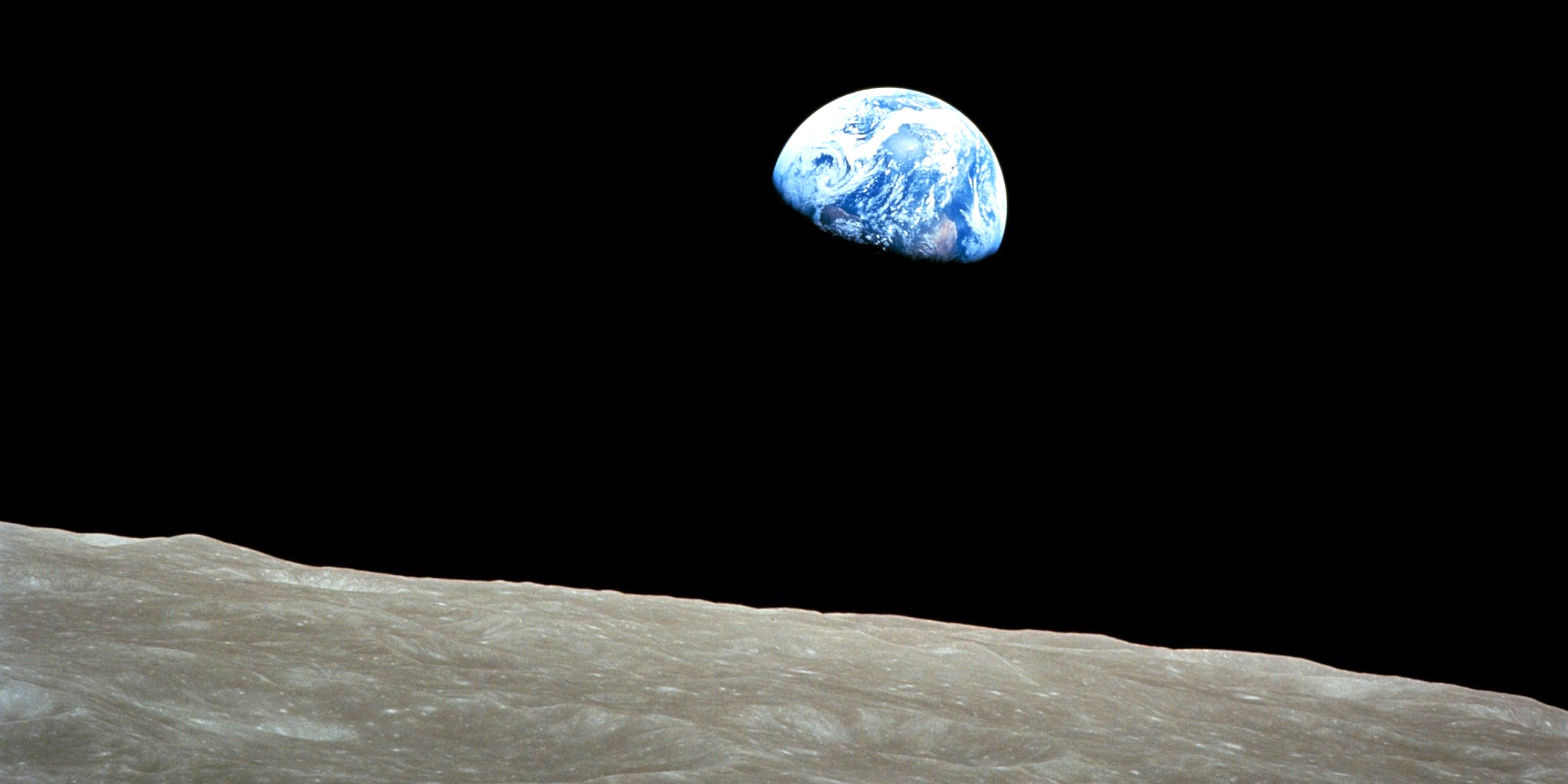 Apollo 8 December 24 1968 first picture ever taken from blue planet Earth